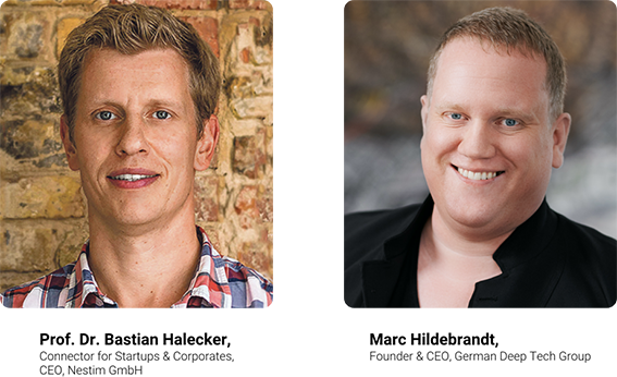Portraits Prof. Dr. Bastian Halecker & Marc Hildebrandt